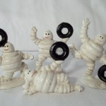 Set of 4 Miniature Michelin Man Figures $11.00