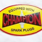 Champion Spark Plugs Sign $10.75
