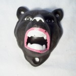 Cast Iron Black Bear Bottle Opener $6.50