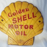 Golden Shell Motor Oil Sign $9.50