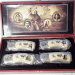 Founding Fathers 4 Knives Set In Wood Box $20.00
