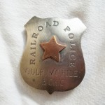 Railroad Police Texas Gulf, Moble, & Ohio Badge with copper star in center $8.00 (Temporarily Out Of Stock)