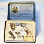 Jesse James Gun & Bullet Knives In Tin Box $10.50