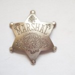 6 Point Star Fancy Marshal Badge $8.00