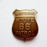 Route 66 Patrol Brass Badge $5.50