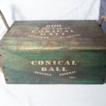 Conical Ball Arsenal Wood Box $30.00