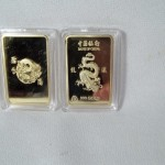 Bank of China Dragon Bar Gold Plated Bar $2.75 per bar Temporarily Out Of Stock