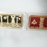 Masonic Mason Gold Plated Bar $2.75 per bar
