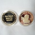 Trump Silent Majority Gold Plated Coin $2.75 per coin