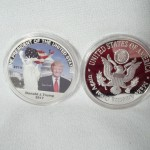 Trump 45th President Painted Silver Plated Coin $2.75 per coin