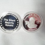 Trump Silent Majority Silver Plated Coin $2.75 per coin