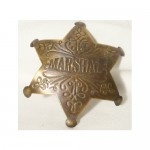 Marshal Brass Scroll Work Badge $5.50
