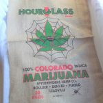 Hourglass 100% Colorado Indica Spyderworks Hemp Co Burlap Bag $8.75
