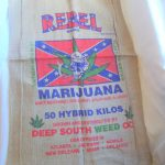 Rebel Marijuana There Ain't Nothin' Like a Mint Julip And A Joint Southern Bud Is Best Burlap Bag $8.75